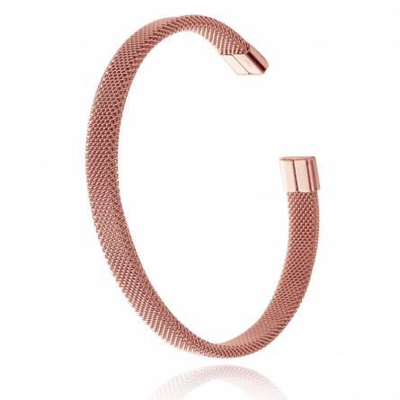 Bracelet Jonc Acier rose