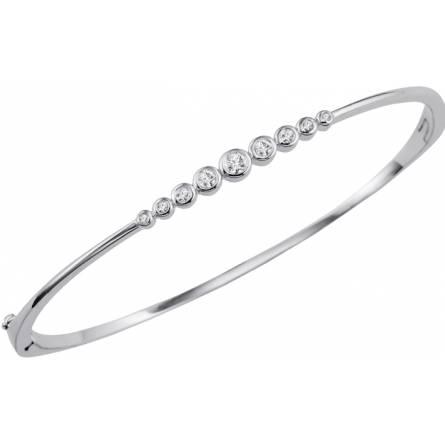 Bracelet jonc aurore boréale