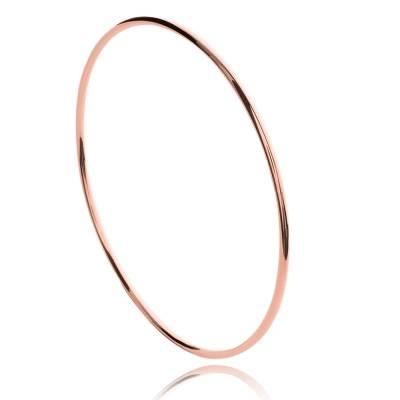 Bracelet jonc en plaqué or rosé Latuin