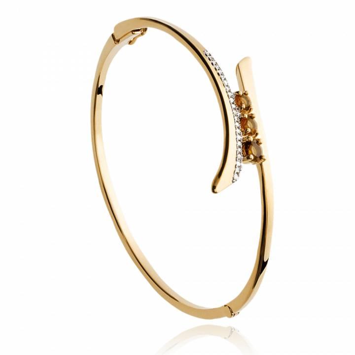 Bracelet jonc plaqué or Alexandra,Jeanne