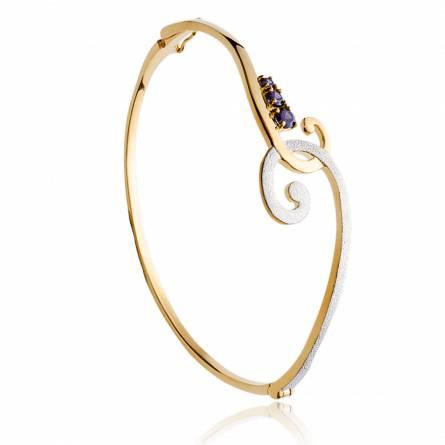 Bracelet jonc plaqué or Anna-Line