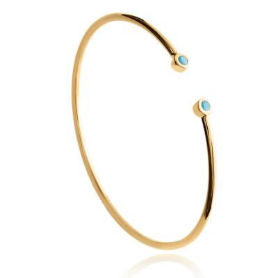 Bracelet jonc rigide en plaqué or Landrade