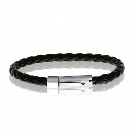 Bracelet lanière noire