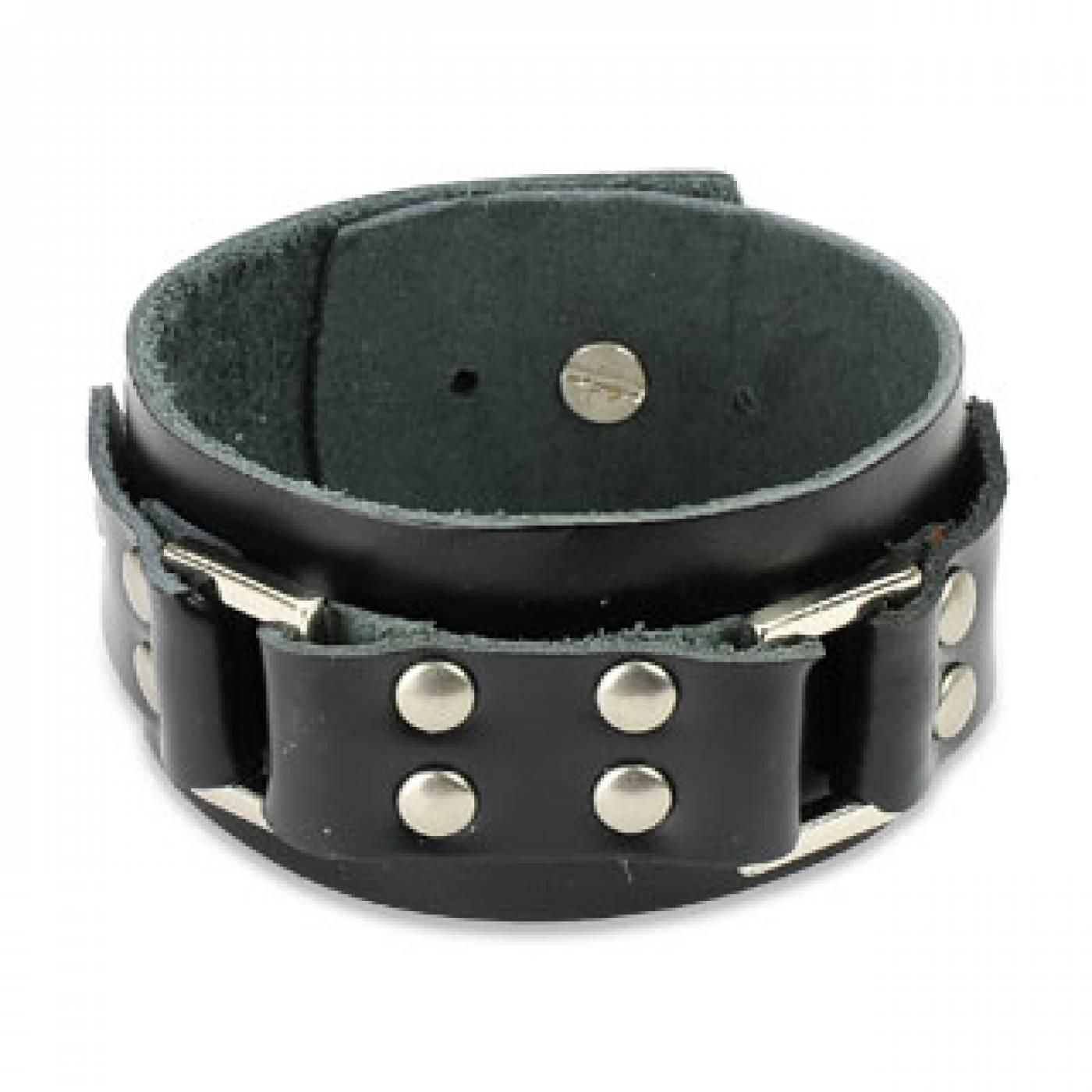 bracelet cuir homme large. Black Bedroom Furniture Sets. Home Design Ideas