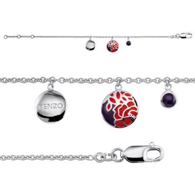 Bracelet médaillon argent Kenzo Eldis