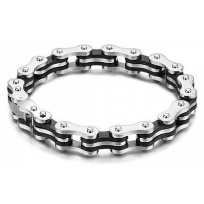 Bracelet Maille Velo Noir Eddy