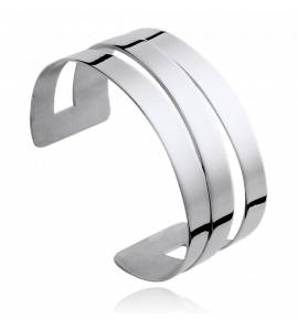 Bracelet manchette acier Anne-Amélie
