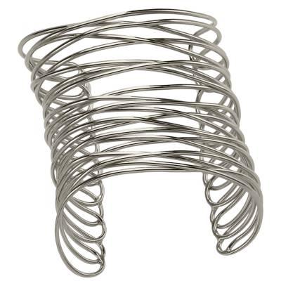 Bracelet manchette bronze blanc Franchini Entrecroisé Infini