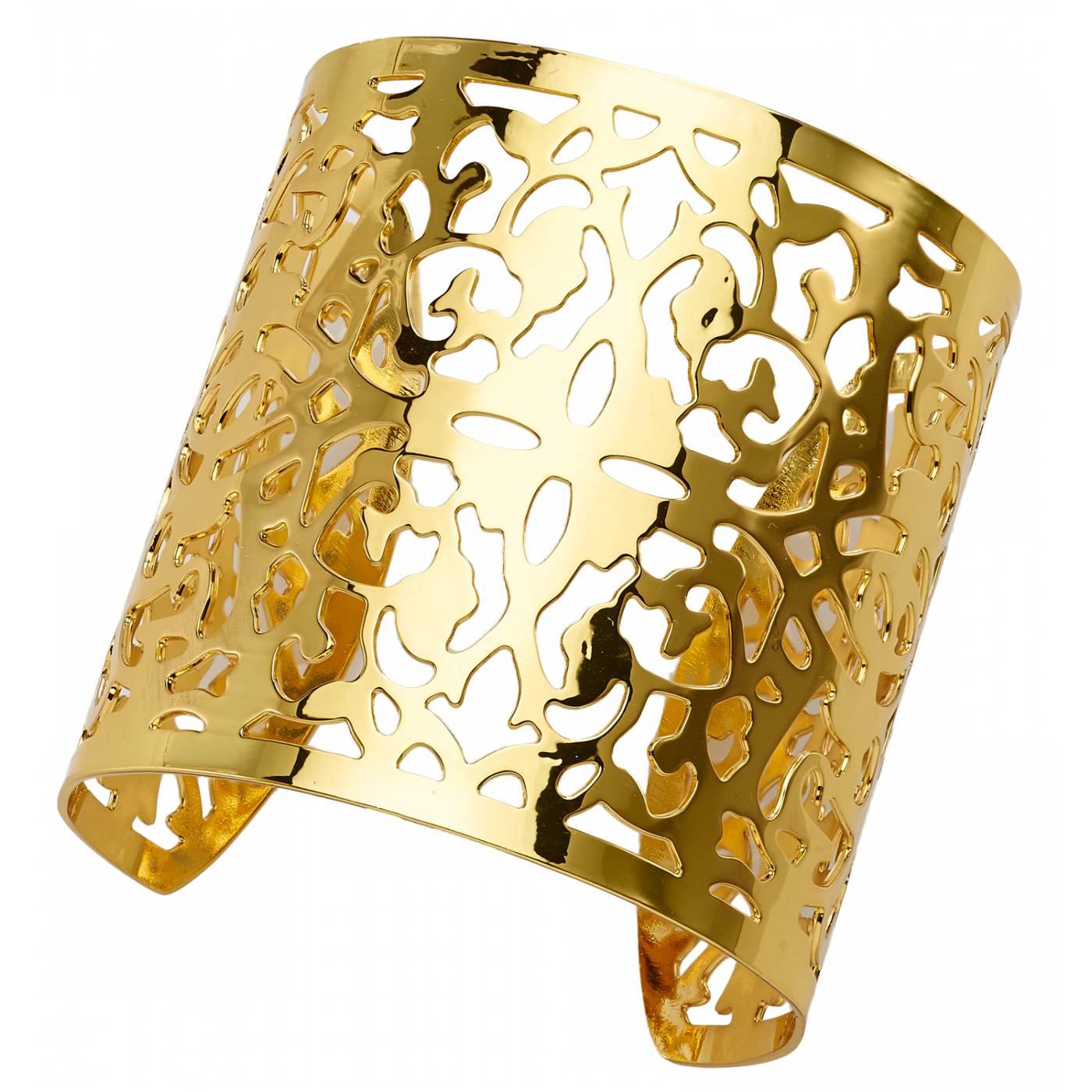 manchette femme arabesques bronze jaune franchini. Black Bedroom Furniture Sets. Home Design Ideas