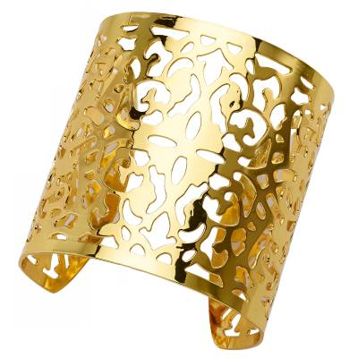 Bracelet manchette bronze jaune Franchini Arabesques