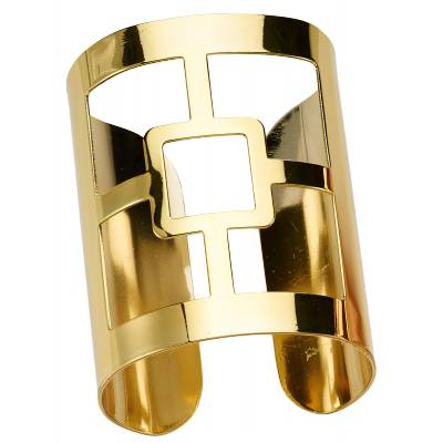 Bracelet manchette bronze jaune Franchini Carrés épurés
