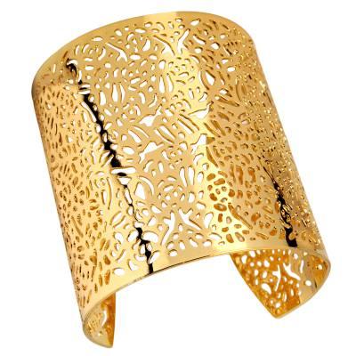 Bracelet manchette jungle doré