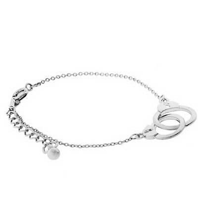 Bracelet Menottes Argenté Valérie
