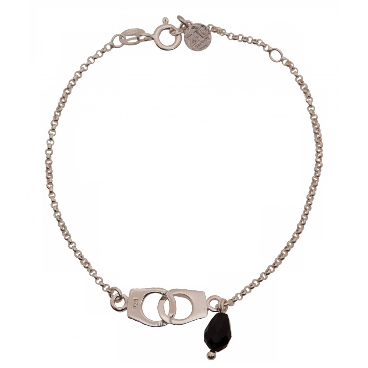 Bracelet Femme Argent Noir Zag Bijoux 14780