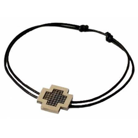 Bracelet Minimaliste croix pixelisée