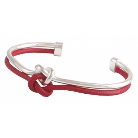 Bracelet Navale fil d'Argent et Cuir