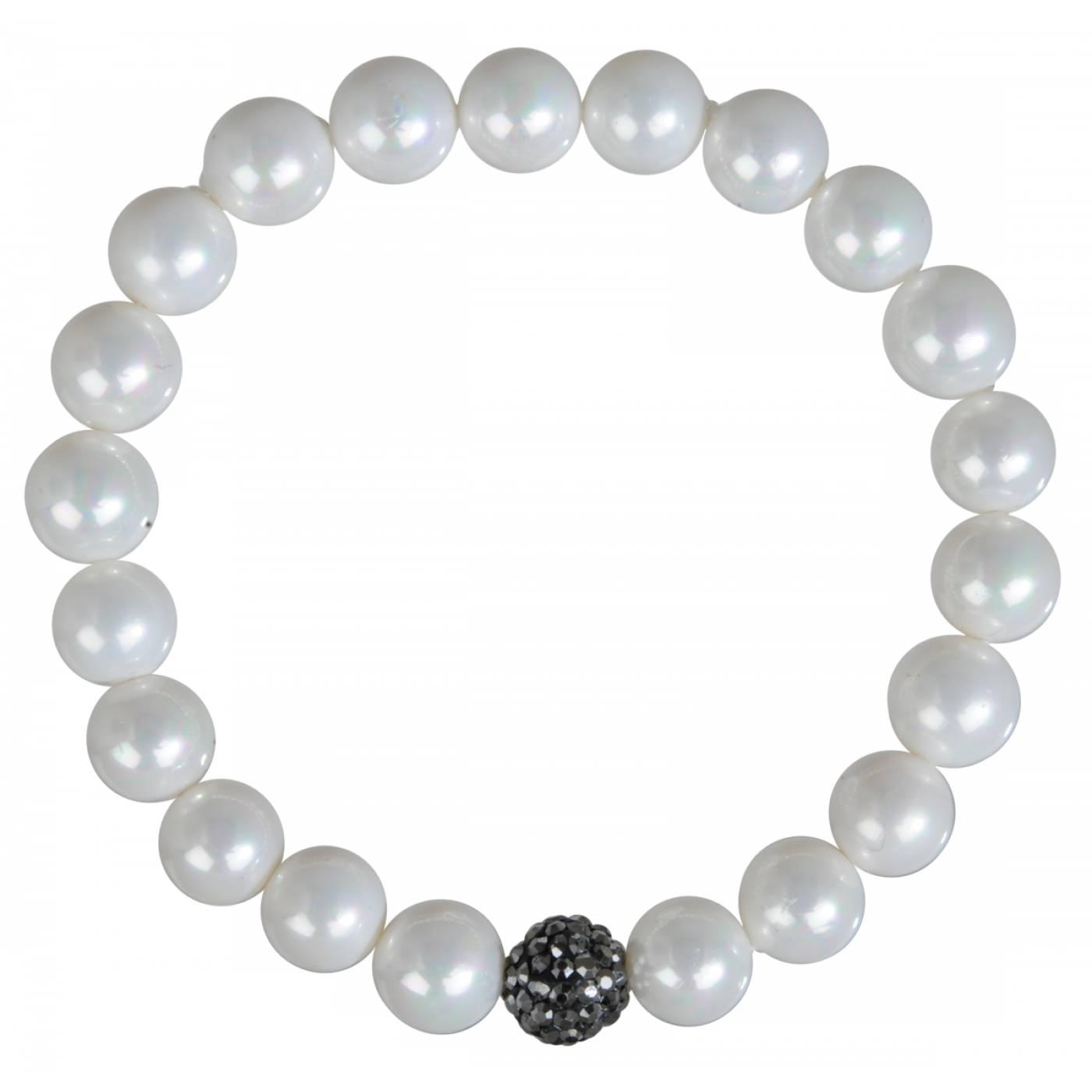 bracelet femme klervie lastique perle noir gris elodab. Black Bedroom Furniture Sets. Home Design Ideas