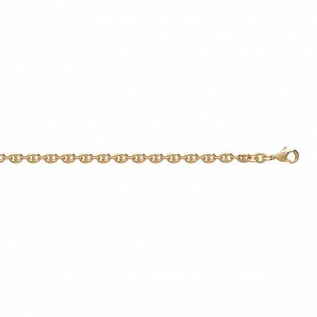 Bracelet plaqué or maille grain de café  4mm