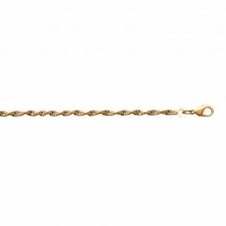 Bracelet plaqué or maille Singapour 3mm
