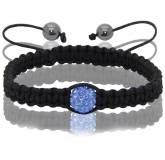 Bracelet shamballa 1 boule bleu Pascal