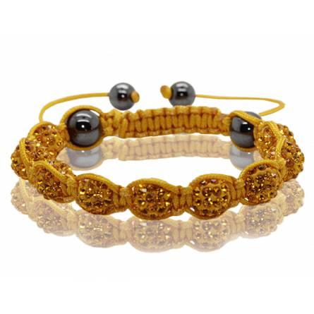 Bracelet Shamballa Jaune Valéra