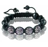 Bracelet shamballa purple jet