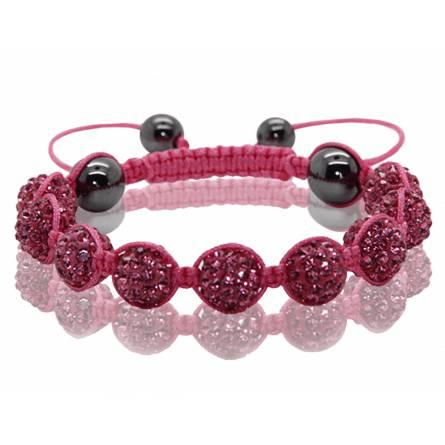 Bracelet Shamballa Rose Valériana