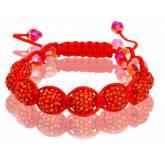 Bracelet shamballa rouge Devil