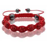 Bracelet Shamballa Rouge Valentiane