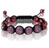 Bracelet shamballa style framboise