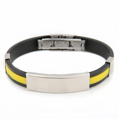 Bracelet silicone Valentin jaune