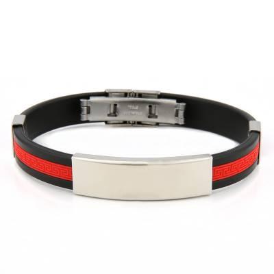 Bracelet silicone Valentin rouge