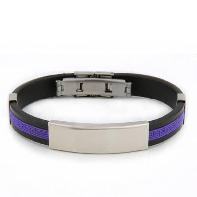 Bracelet silicone Valentin violet