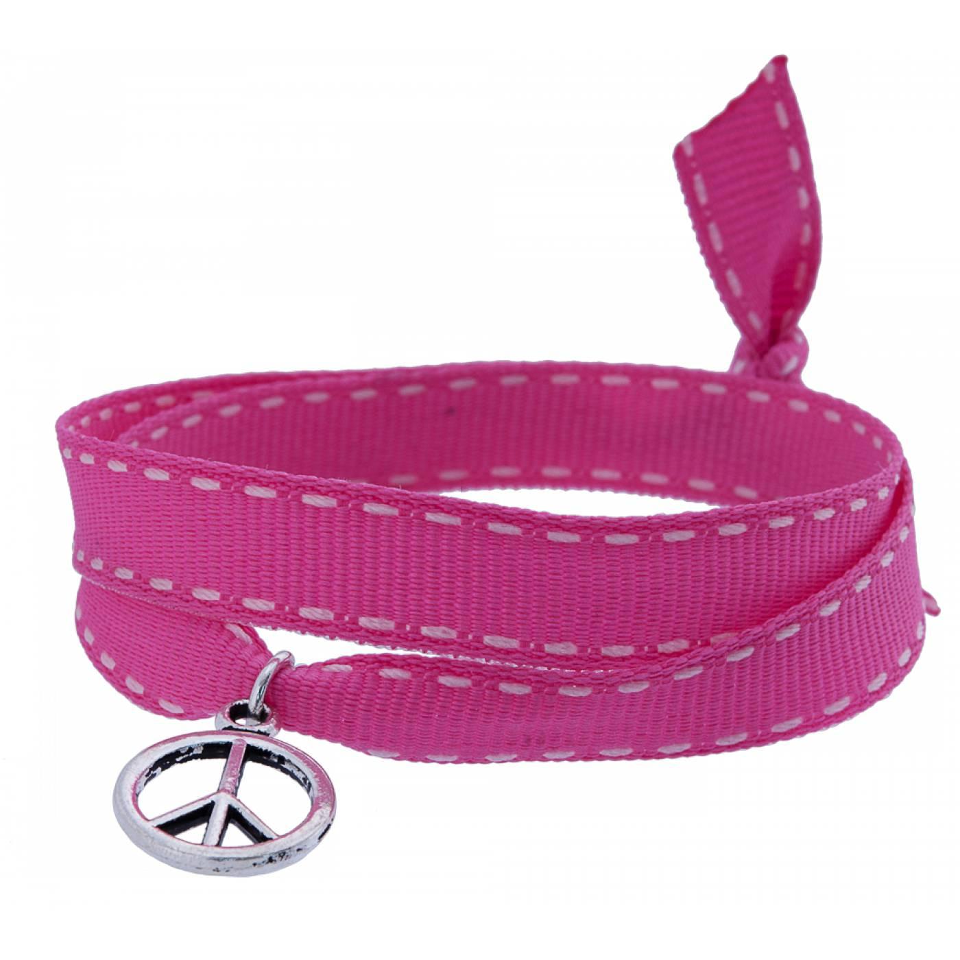 bracelet tissu rose peace