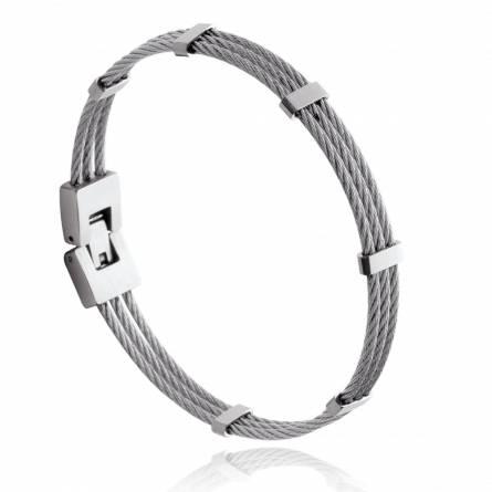 Bracelet triple Cable acier Fanny