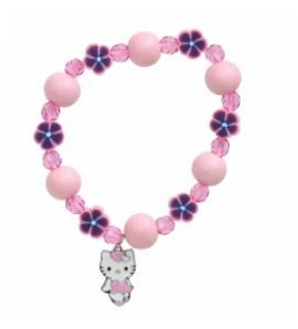 Bracelete criança madeira Fantasy Heart rosa