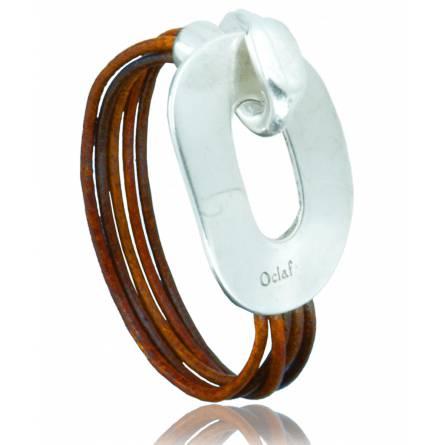 Bracelete feminino couro Agraciada