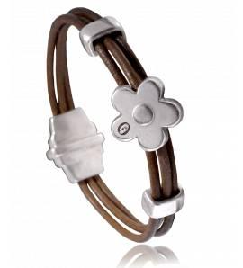 Bracelete feminino couro Dolomiti  marrom