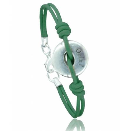 Bracelete feminino tecido Batista  verde