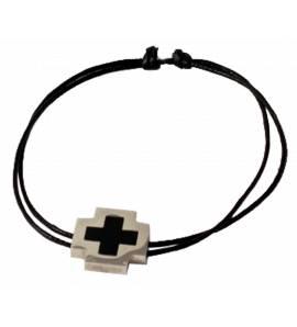 Bracelete masculino algodão Pacôme preto