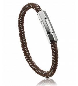 Bracelete masculino Dolylana  marrom