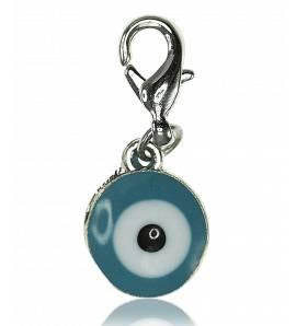 Breloque charm oeil bleu Vaitiare