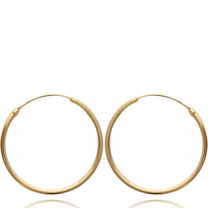 Brincos Brincos de argola 3cm Feminino Classique 3 cm Banhado a ouro a9e35c956a