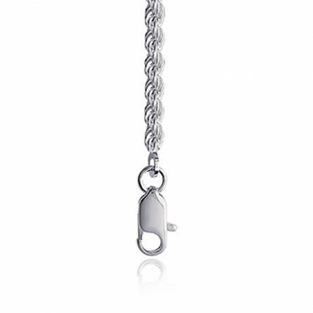 Cadena mujer plata cuerda