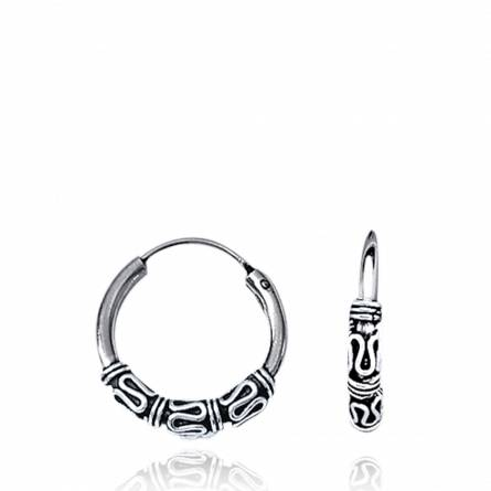 Cercei femei argint Balinaise 1.5 creol gri
