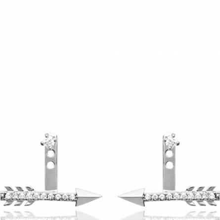 Cercei femei argint Coralise gri