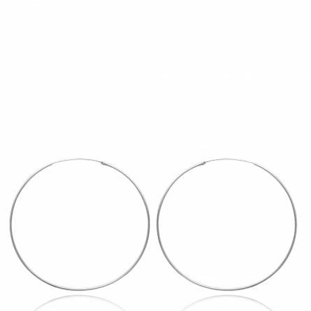 Cercei femei argint Distinction 7 cm runda