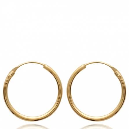 Cercei femei placate cu aur Classique 1.8 cm creol