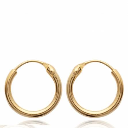 Cercei femei placate cu aur Classiques 1.2 cm runda