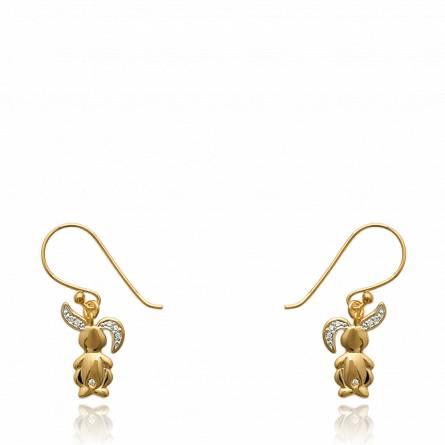 Cercei femei placate cu aur Lapinou